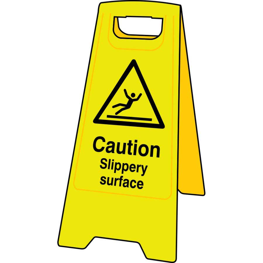 Caution slippery surface floor sign stand janc164 ese direct for Floor banner