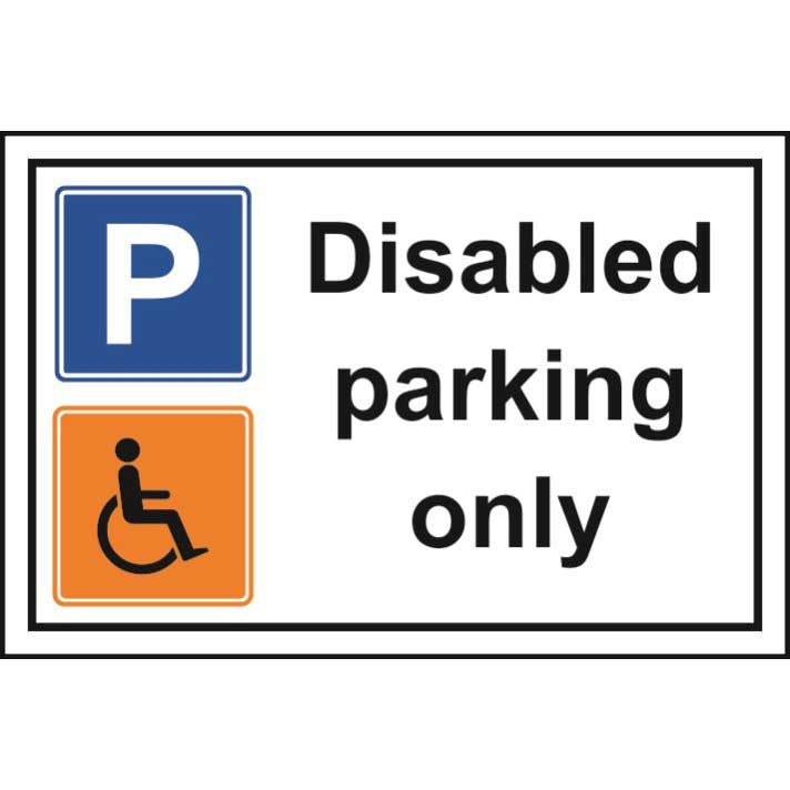 various styles size 7 100% authentic Disabled Parking Only Sign