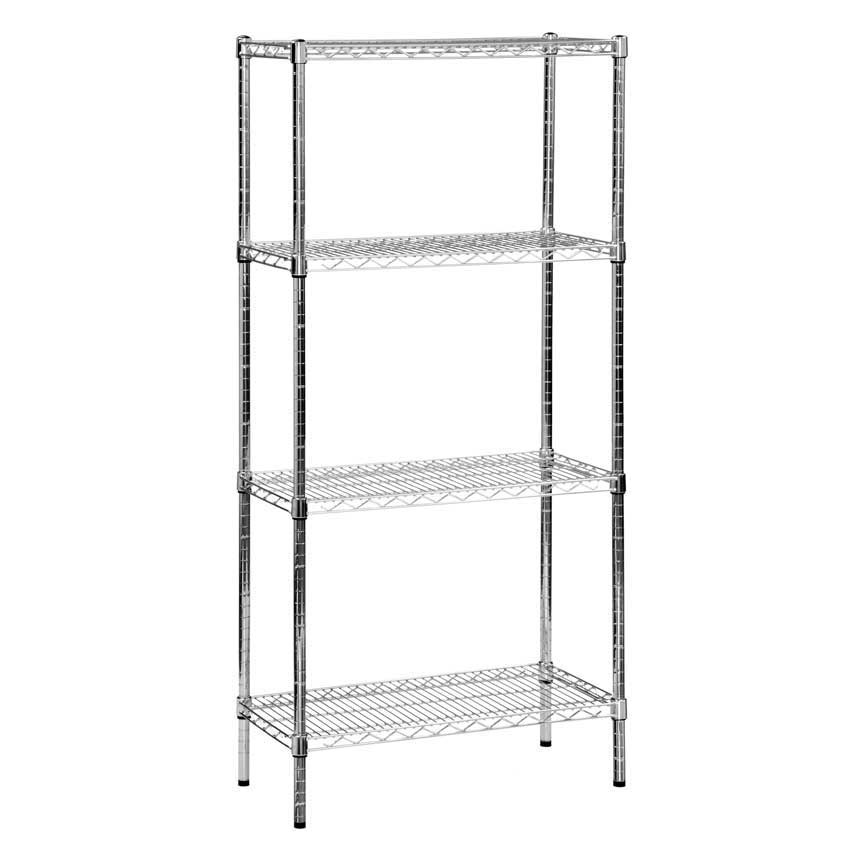 Eclipse Chrome Wire Shelving with 4 Shelves - ESE Direct