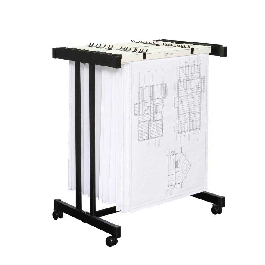 Hanging drawing rack cosmecol for Architectural plan storage