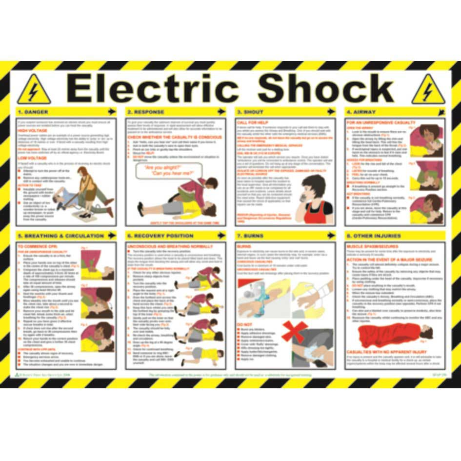 Electric Shock Safety Poster Ese Direct