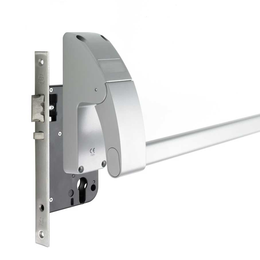 Emergency Exit Push Bar With Night Latch
