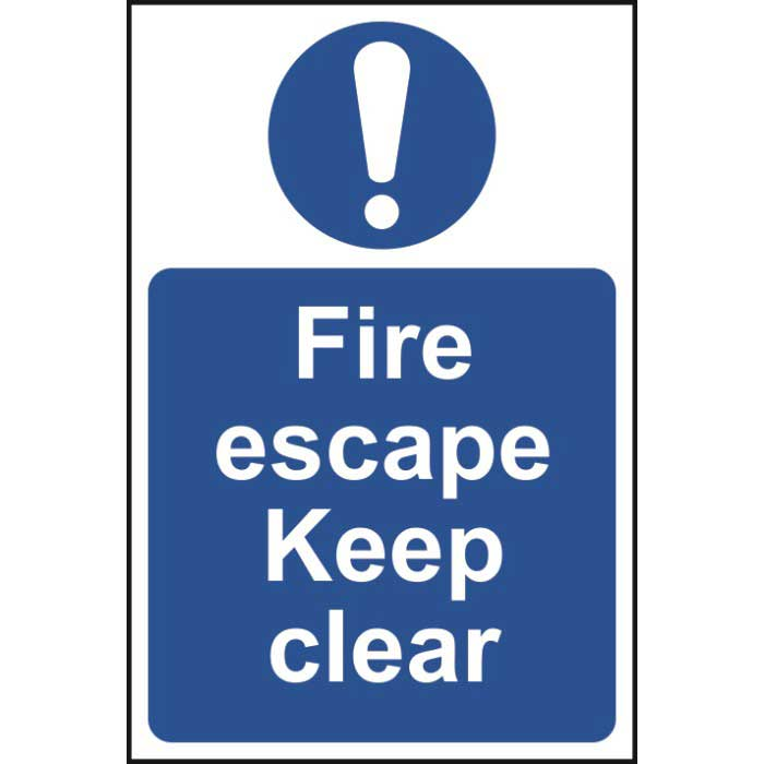 Fire Escape Keep Clear Sign Ese Direct