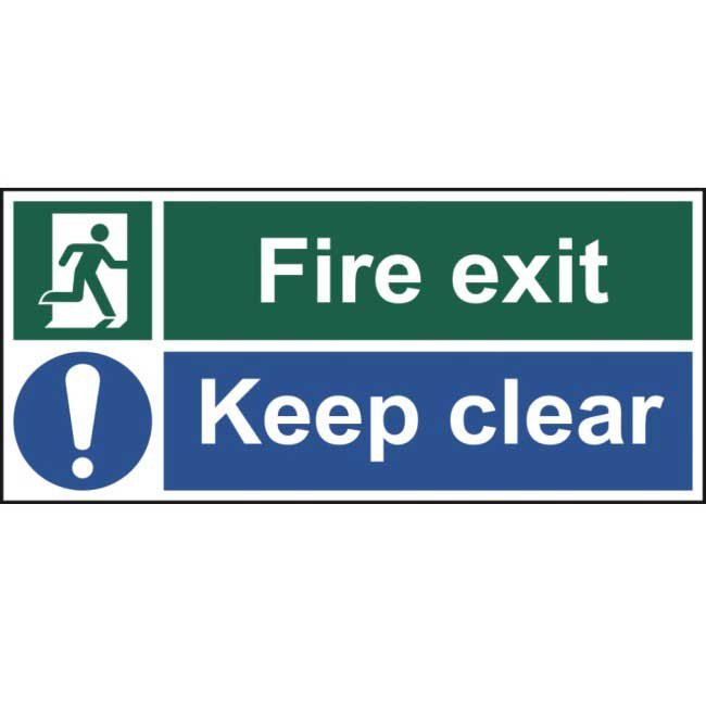 Fire Exit Keep Clear Sign Ese Direct