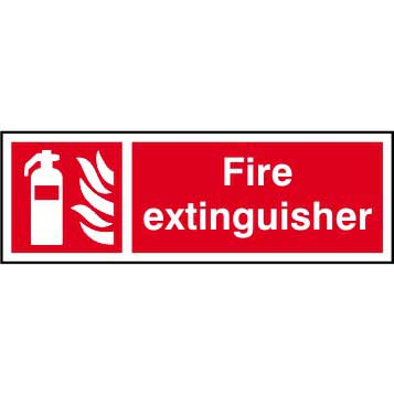 Fire Extinguisher Symbol Text Sign Ese Direct