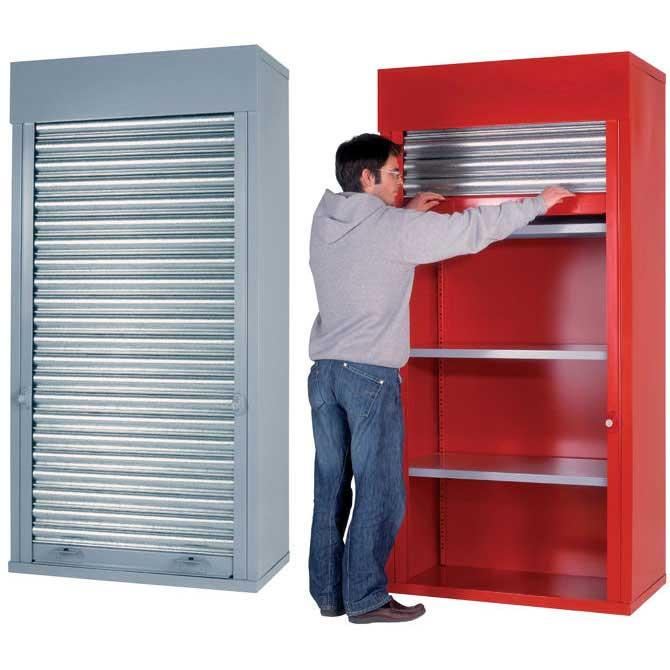 Marvelous H/D Roller Shutter Cabinets 2m H X 1m W X 500mm D