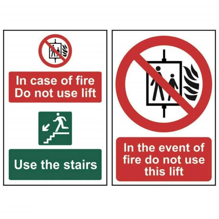 New In Case Of Fire Do Not Use Elevators Sign Large 10 X
