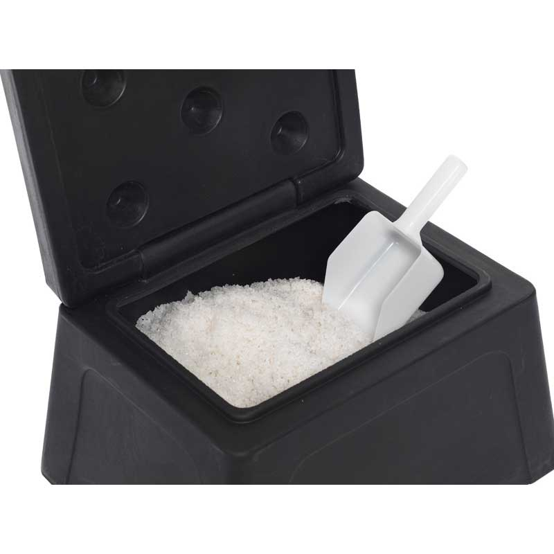 Mini Grit Bin With 25kg Salt And Scoop