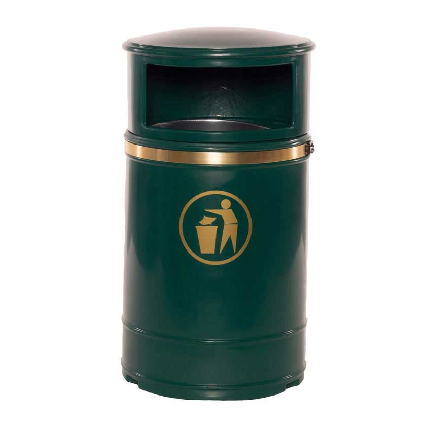 Nickleby Post Wall Mount Litter Bin Waste Rubbish Bins