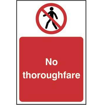 No Pedestrian Thoroughfare Sign Ese Direct