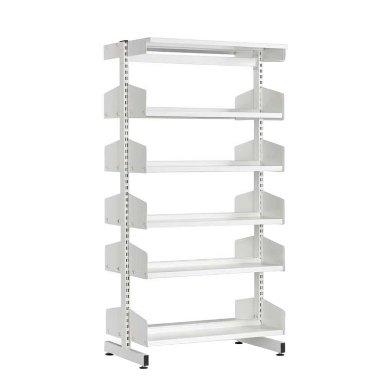 double office ese officelibrary library direct shelving sided p shelf
