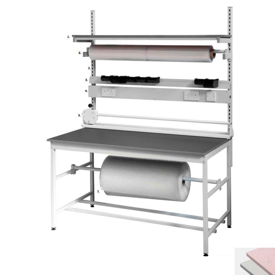Packing Bench With 20mm Plastic Laminate Top Ese Direct