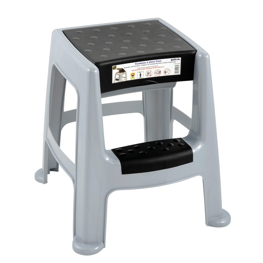 Plastic 2 Step Stool With Storage Box Ese Direct