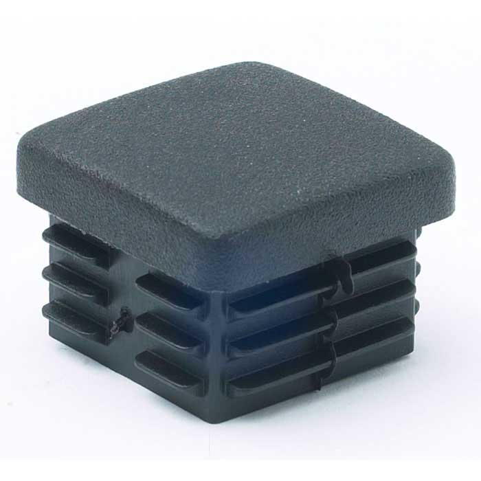 Plastic end cap for square tube ecp