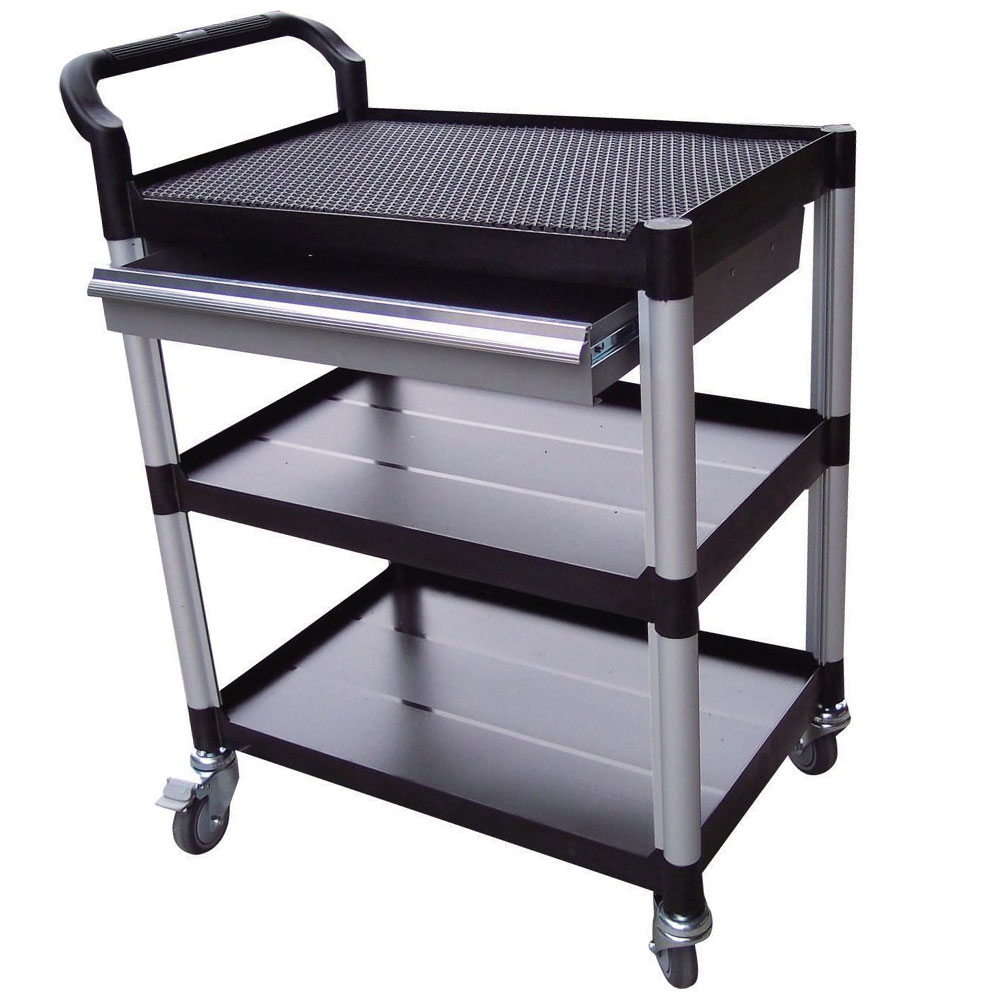Plastic Tray Trolleys With Shelves And Drawers With Free