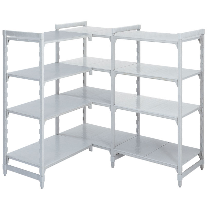Attirant Polypropylene Shelving 400 Deep 4x Solid Shelves