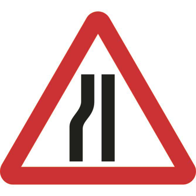Road Narrows Left Sign Ese Direct