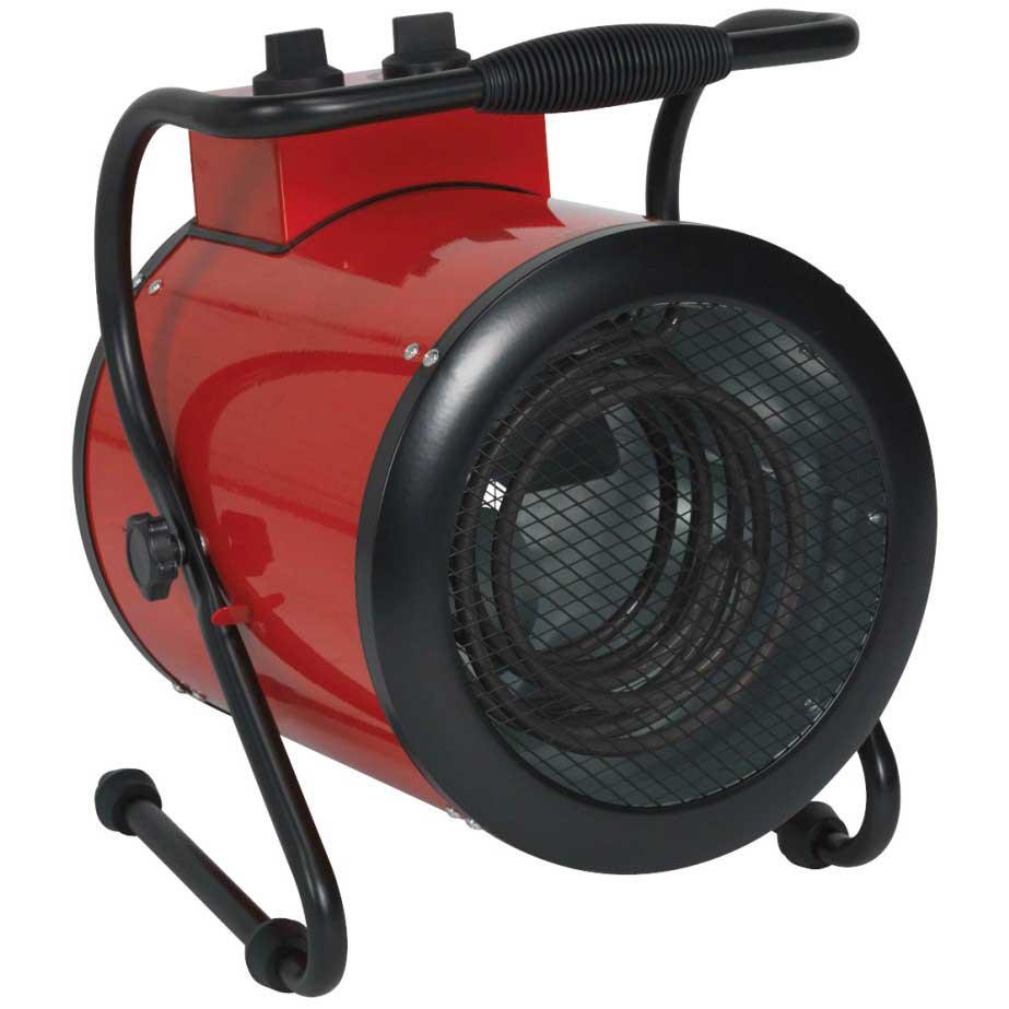 sealey industrial fan heater 3kw with 2 heat settings. Black Bedroom Furniture Sets. Home Design Ideas