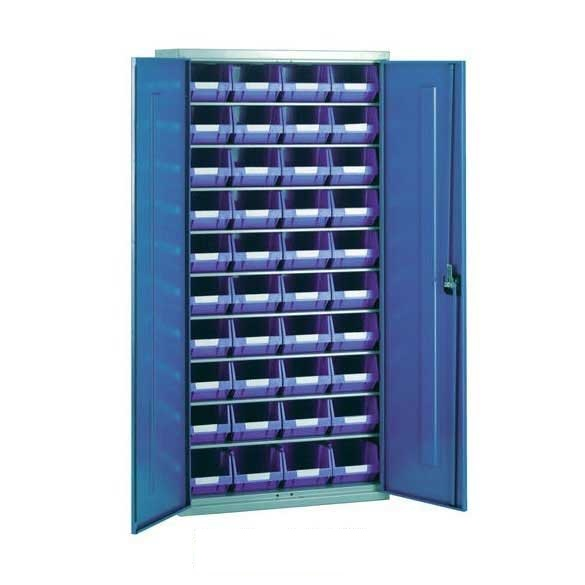 Steel Storage Cabinet with 40 plastic containers - ESE Direct