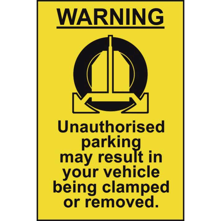 Your Vehicle May Be Clamped Warning Sign Ese Direct