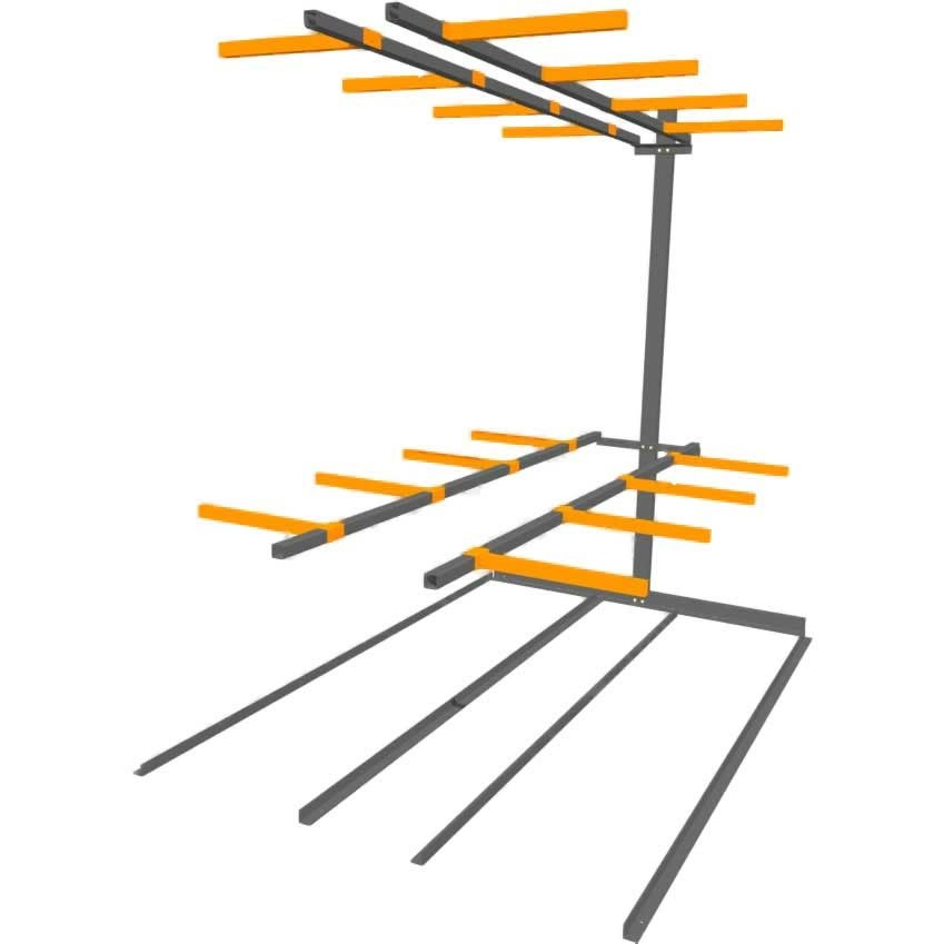 Vertical Storage Rack Double Sided Extension Bay Ese Direct