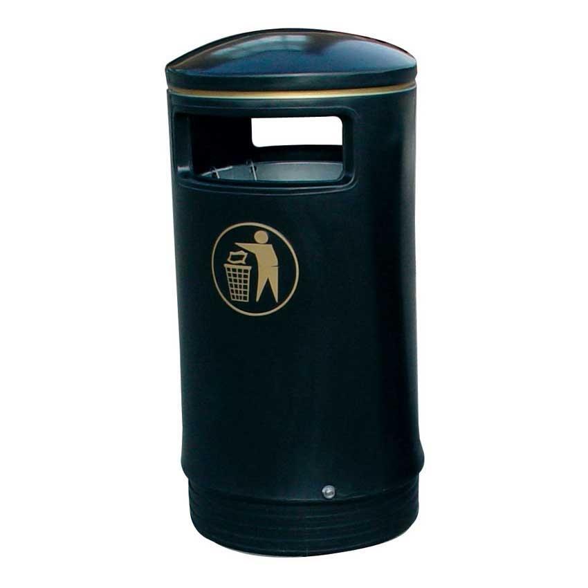 Victorian hooded waste bin