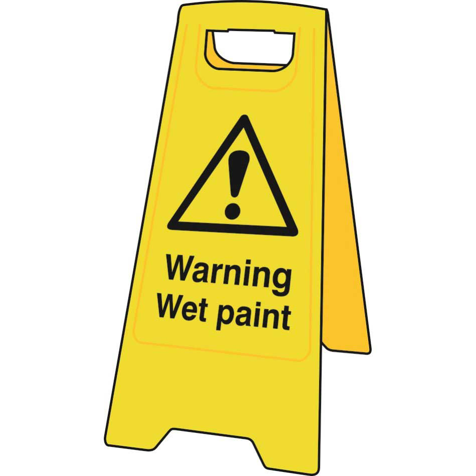 photograph relating to Wet Floor Signs Printable named Caution Soaked Paint Surface Stand Signal