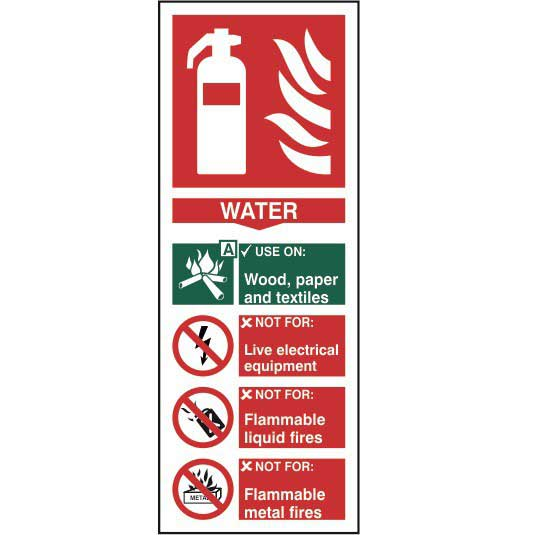 Water Fire Extinguisher Sign Ese Direct