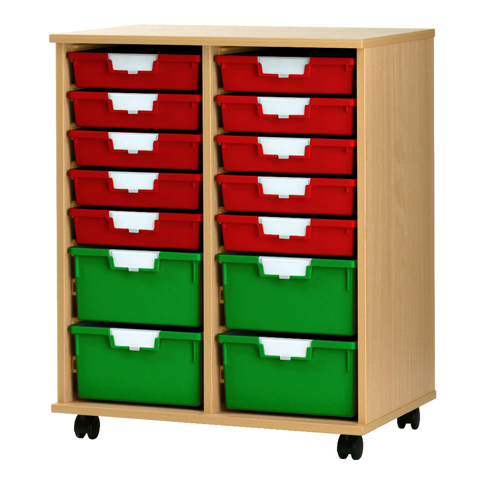 Wooden Racks With Plastic Storage Trays With Free Uk