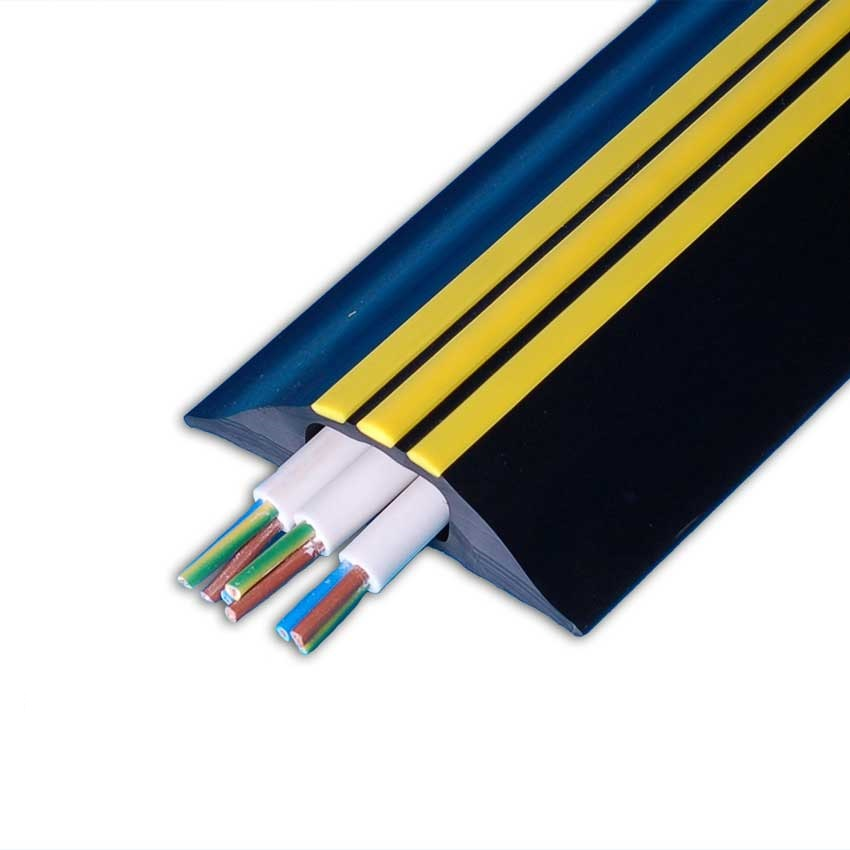 9m Hazard Identification Cable Cover - Black with Yellow Stripes