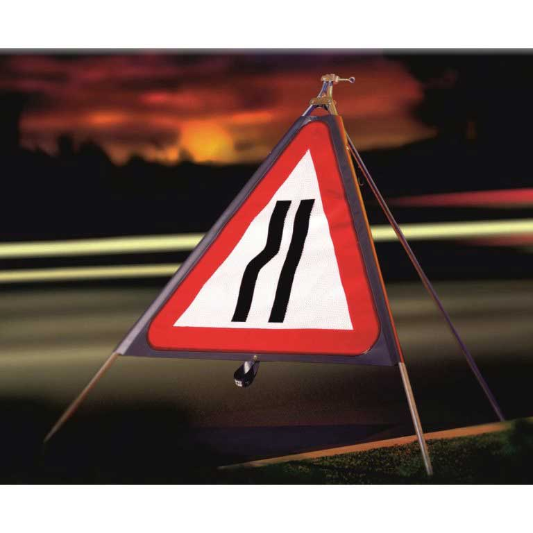 Roll-up road sign