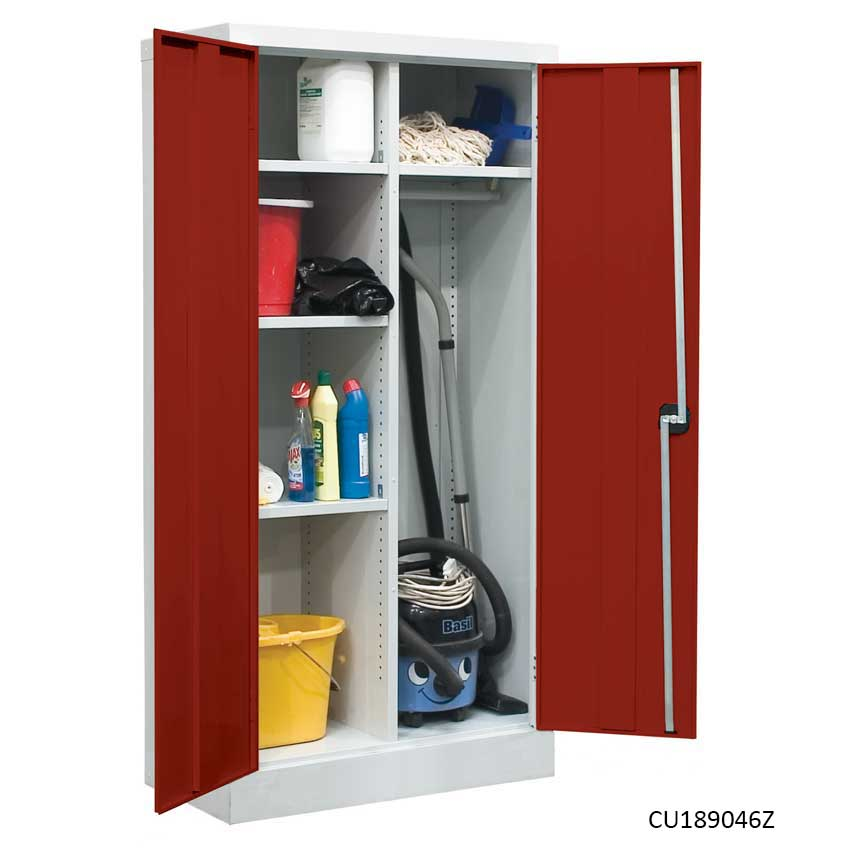Utility Cupboard With Red Doors