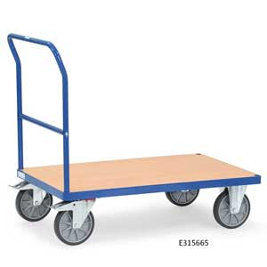 Single Beech Veneer Open End Trolleys