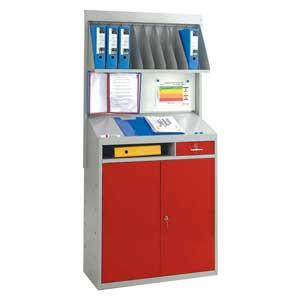 Industrial Workstation with Whiteboard & Shelf back