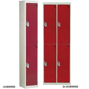 2 compartment / 2 door Steel Lockers