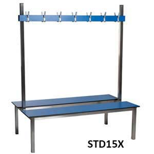 Aqua Double Sided Changing Room Benches
