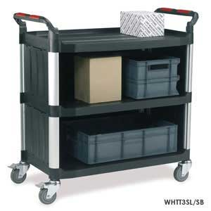 WHTT3SL/SB 3 Shelf Large Trolley with Enclosed Sides and Back