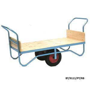 Double Handle Flatbed Balance Trolley with Solid Ends 500kg Capacity