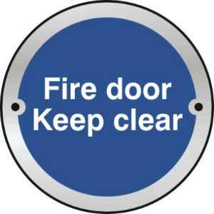 Fire Door Keep Clear Door Disc