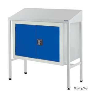 Team Leader Workstations With Double Door Cupboard