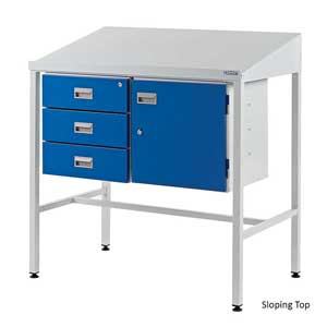 Team Leader Workstations With Triple Drawer & Cupboard