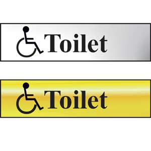 Toilet Mini Sign With Disabled Symbol