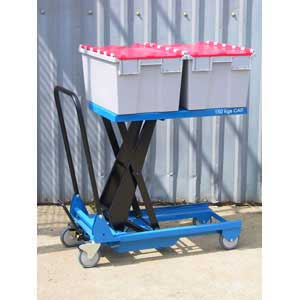 Scissor Table Carrying Boxes
