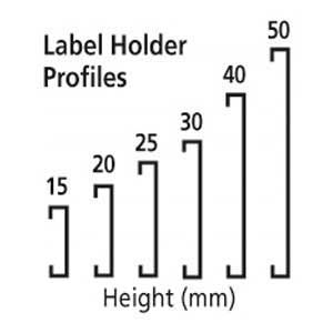 Label holder profiles