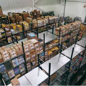 Longspan Shelving Bays 3 Galvanised Steel Decks Shelves