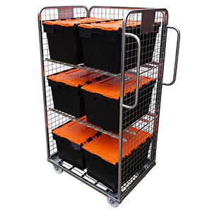 3 Sided Picking Container designed to accomodate Tote Boxes