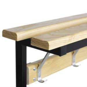 Versa Square Frame Single Sided Bench - Wood Top Shelf Close Up