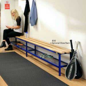 Versa Square Frame Bench With Optional Shoe Rack