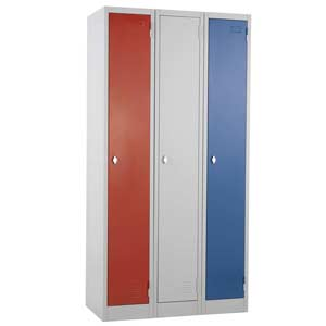 Group of three Express Atlas 1 door lockers