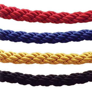 Barrier ropes available in a choice of 4 colours